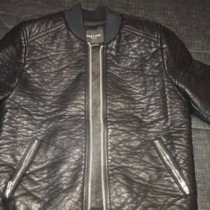 LIKE NEW Obey faux leather bomber jacket